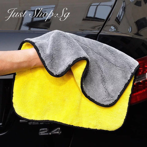 Bi-colou Micro Fibre Car Polish And Cleaning Cloth - Just Shop.Sg