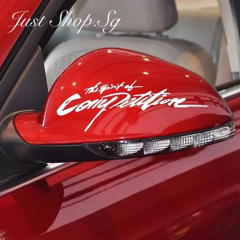 The Spirit Of Competition Car Decal / Sticker - Just Shop.Sg