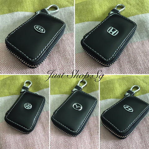 Leather Key Pouch (Thread Design) - Just Shop.Sg
