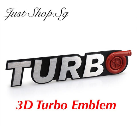 3D Turbo Emblem - Just Shop.Sg