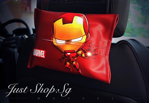 Marvel Superhero Leather Tissue Cover - Just Shop.Sg