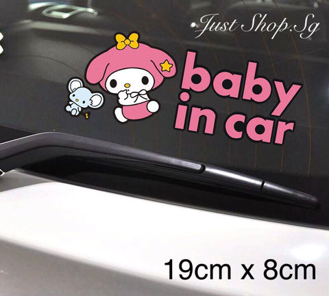 M2 - Melody Baby In Car Sticker / Decal - Just Shop.Sg