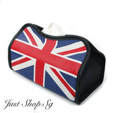 Union Jack Leather Tissue Cover - Just Shop.Sg