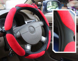 Velvet Cross Leather Car Steering Cover - Just Shop.Sg