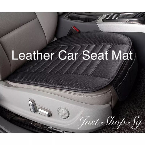 Leather Car Seat Mat - Just Shop.Sg