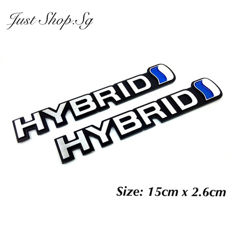 3D Hydrid Car Rear Emblem