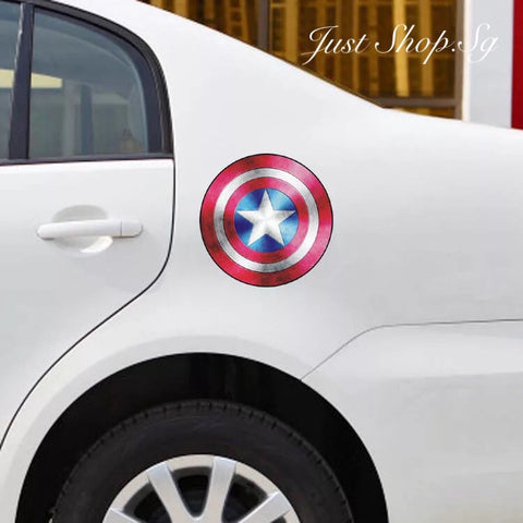 Captain America Fuel Cover Sticker / Decal - Just Shop.Sg