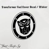 Transformer Fuel Cover Decal / Sticker - Just Shop.Sg