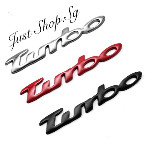 Turbo Chrome Car Emblem - Just Shop.Sg