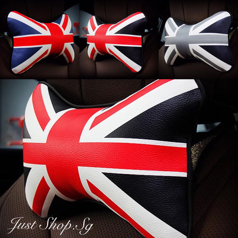Union Jack Leather Headrest - Just Shop.Sg