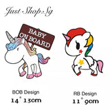 Unicorn Baby / Baby On Board - Just Shop.Sg
