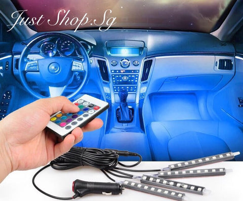 Multi Colour Car LED Legroom Light (With Remote) - Just Shop.Sg