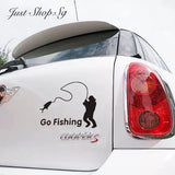 Go Fishing Car Decal / Sticker - Just Shop.Sg