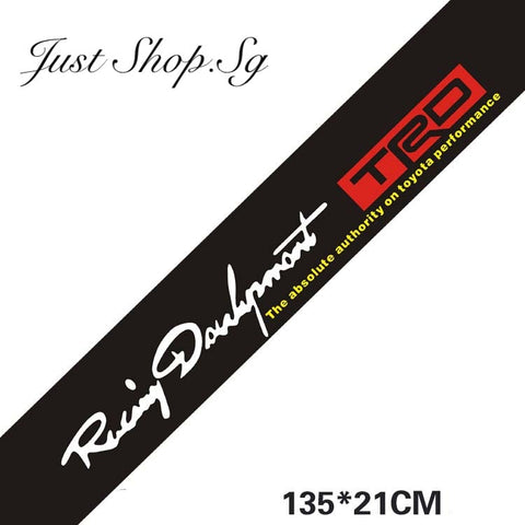 Toyota TRD Windscreen Shade Sticker - Just Shop.Sg