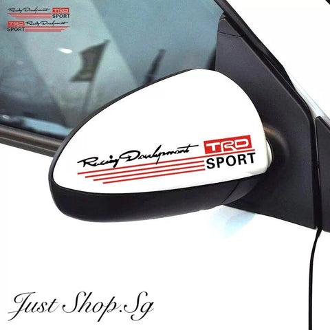 TRD Racing Side Mirror Decal / Sticker - Just Shop.Sg
