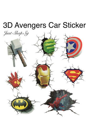 3D Avengers Super Hero Sticker - Just Shop.Sg