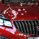 Hello Kitty Car Bonnet Sticker - Just Shop.Sg