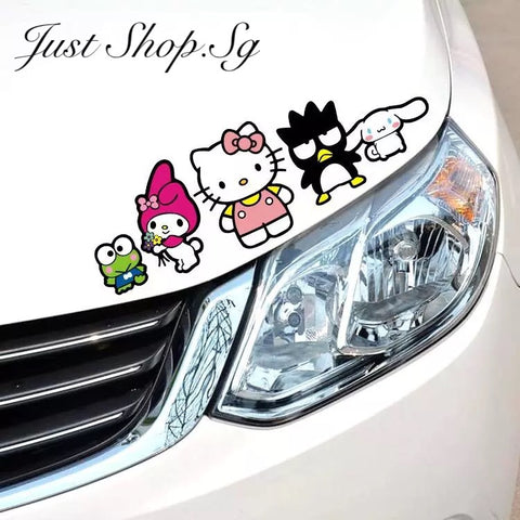 Hello Kitty And Friend Car Sticker - Just Shop.Sg
