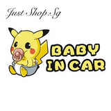 Baby Pikachu In Car Sticker - Just Shop.Sg