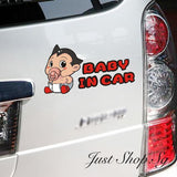 Astro Boy Baby In Car Sticker - Just Shop.Sg