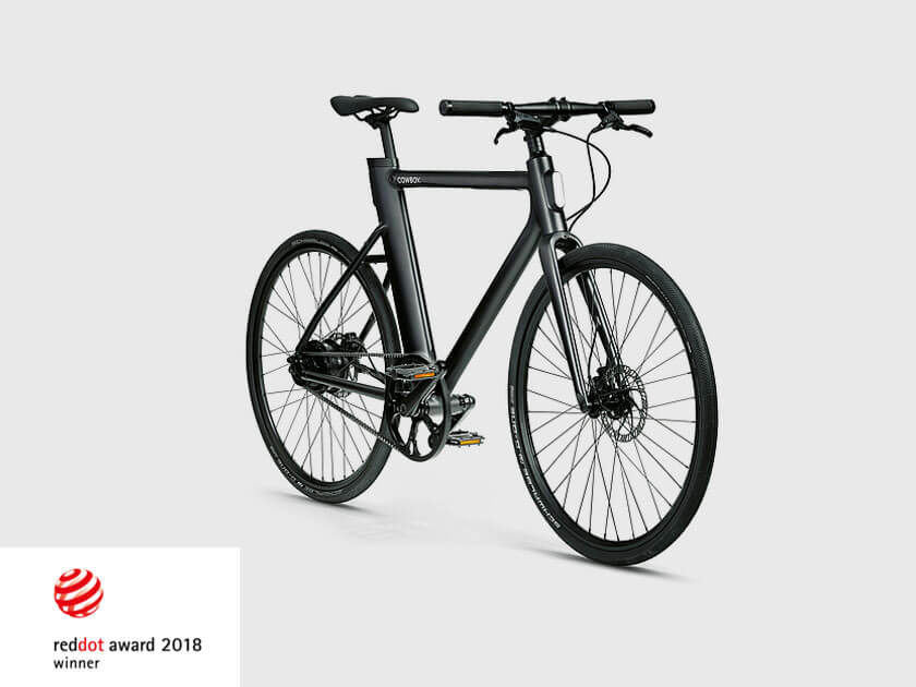 Cowboy e-bike, especially developed for townpeople awarded at Red Dot 2018