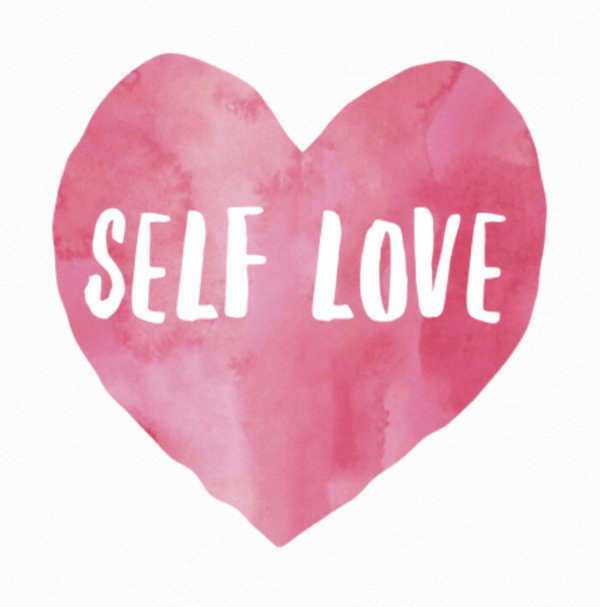 Self-Love Text With Heart