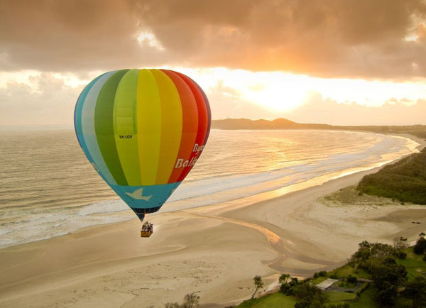 Ballooning over Byron Bay for Valentine's Day