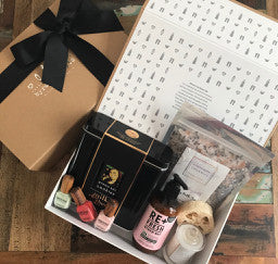Our Gift Boxes Are Posted In An External Mailing Box With Business Contact Details On The Outside Including Delivery Instructions Like