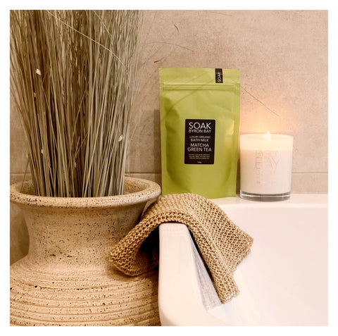 Bath Soak and Candle