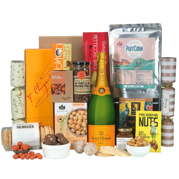 Byron Bay Gifts GIFT HAMPERS Veuve Xmas Gift Hampers