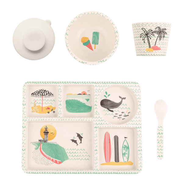 Byron Bay Gifts ONLINE GIFT SHOP Bamboo Kids 5pc Dining Set 'Byron Bay'