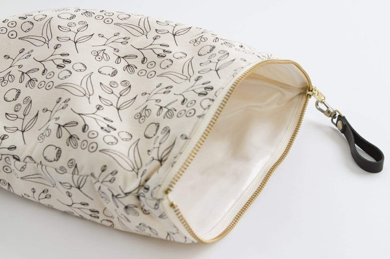 Byron Bay Gifts ONLINE GIFT SHOP Finch & Folk Botanical Zipper Waterproof Pouch