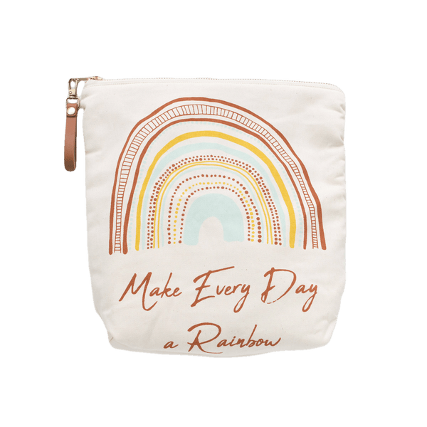 Byron Bay Gifts ONLINE GIFT SHOP Finch & Folk Make Every Day a Rainbow Multi Pouch