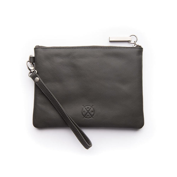 Stitch & Hide ONLINE GIFT SHOP Clutch Bags 'Cassie' Charcoal