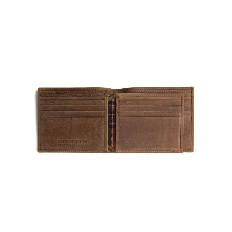 Stitch & Hide ONLINE GIFT SHOP Cool Wallets For Men 'Henry' Cafe