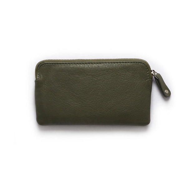 Stitch & Hide ONLINE GIFT SHOP Leather Coin Purse 'Lucy' Olive