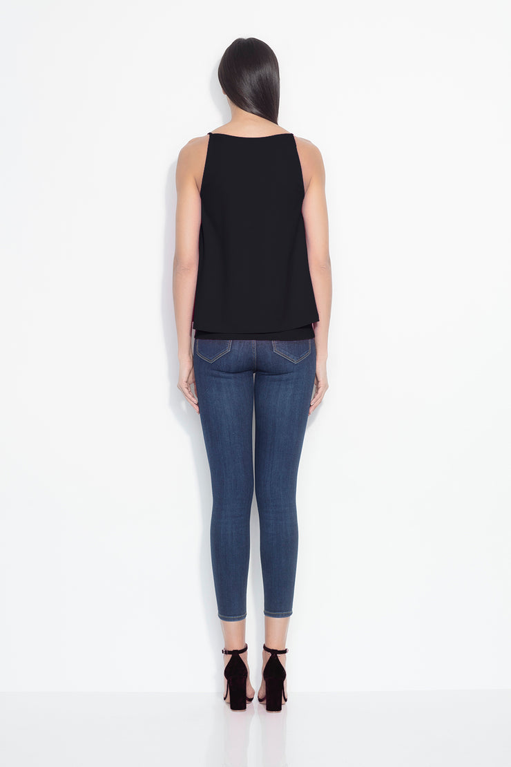 double layer thin strap top