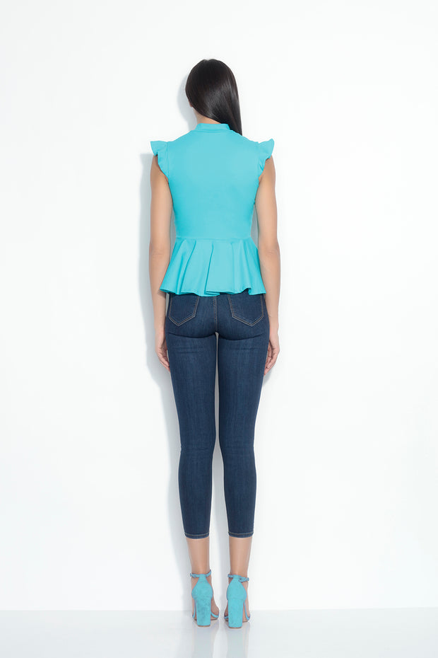 flutter edge peplum top
