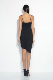 thin strap side twist dress