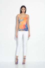 tie dye scoop neck tank