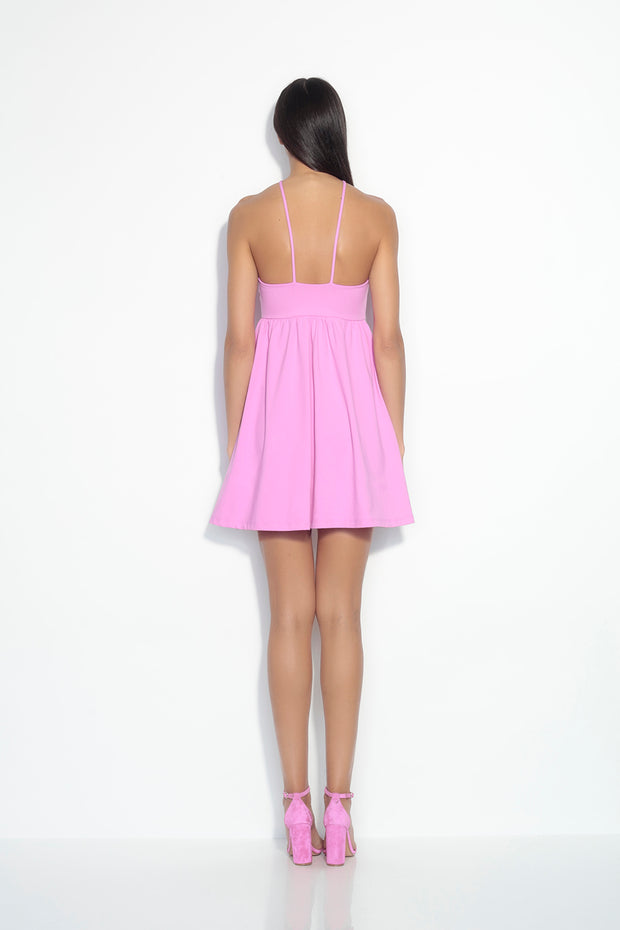 center strap gathered dress