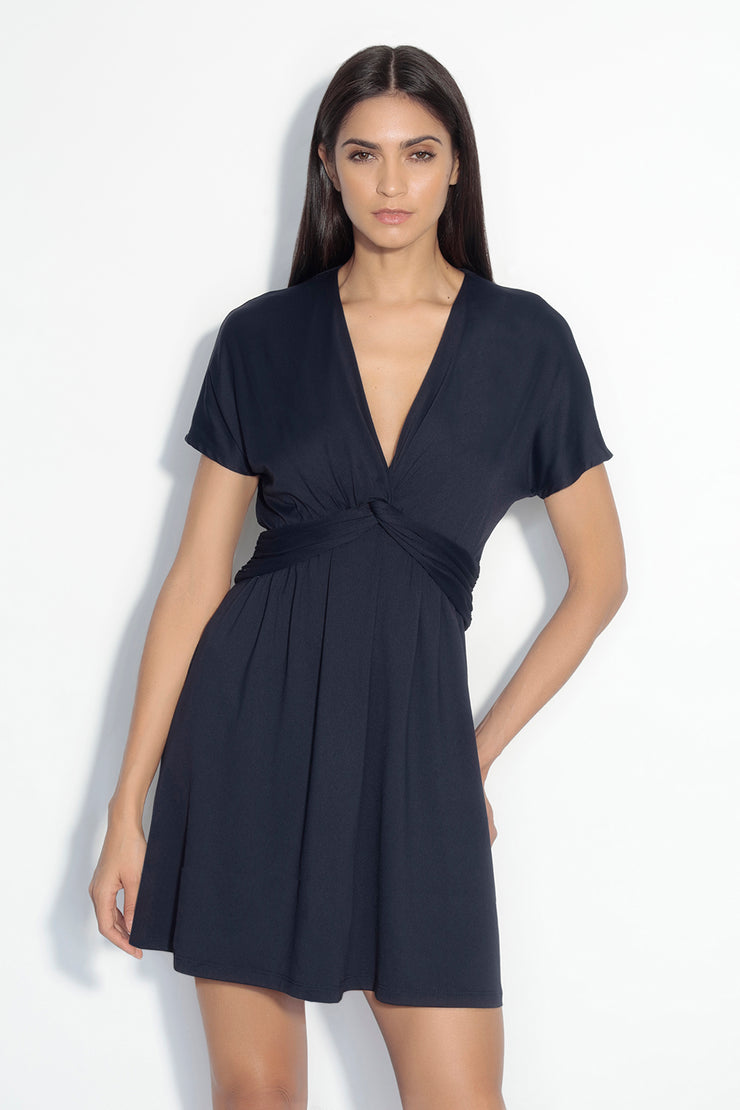 twist front ss dolman dress