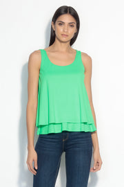 layered lightweight scoop neck tank