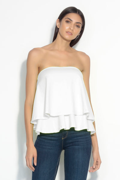 strapless double layer top