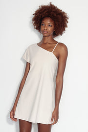 dolman sleeve strap a-line dress