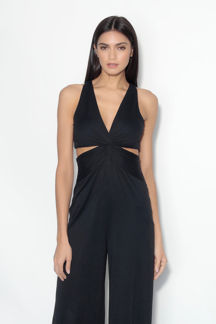 strap twisted waist jumpsuit