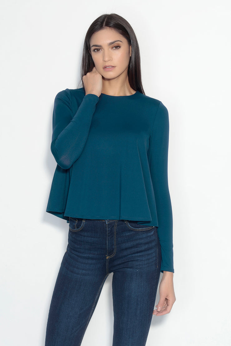 long sleeve flare top