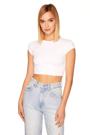 crop crew short sleeve tee
