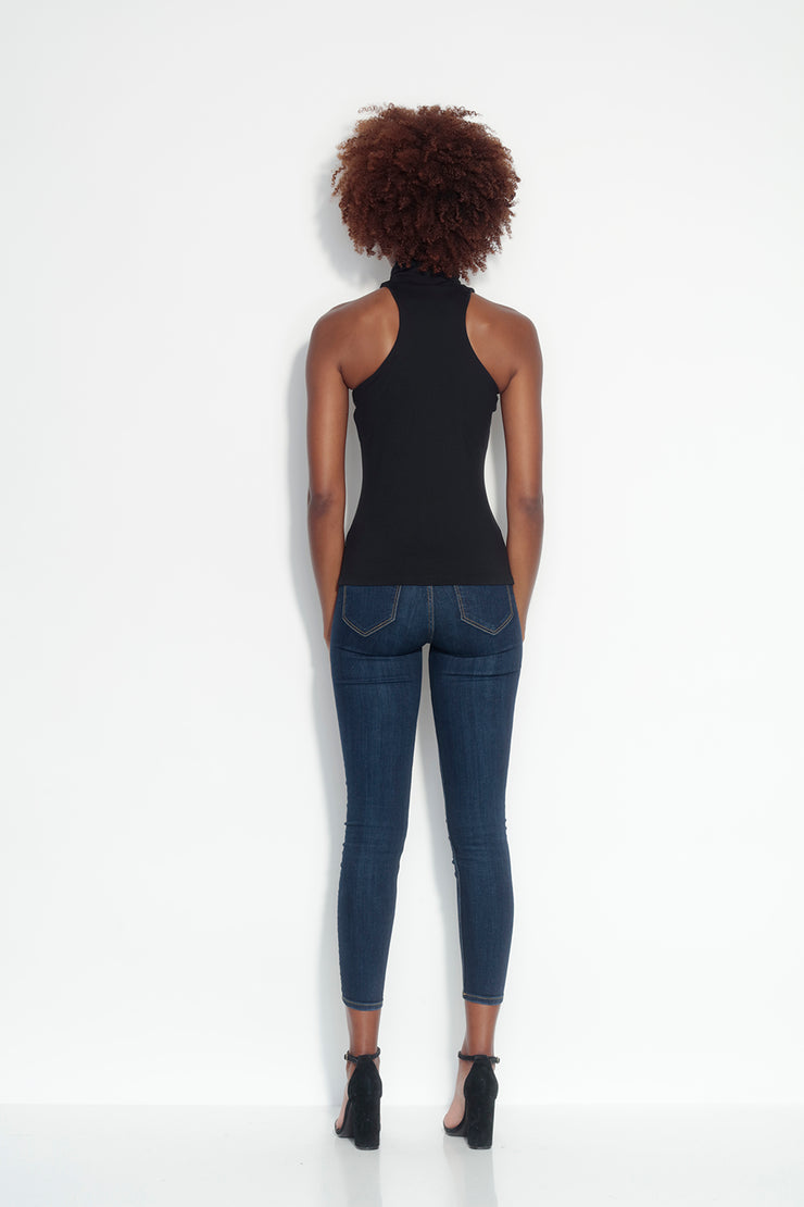funnel neck racer back tank