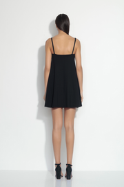 flared v wire tank dress